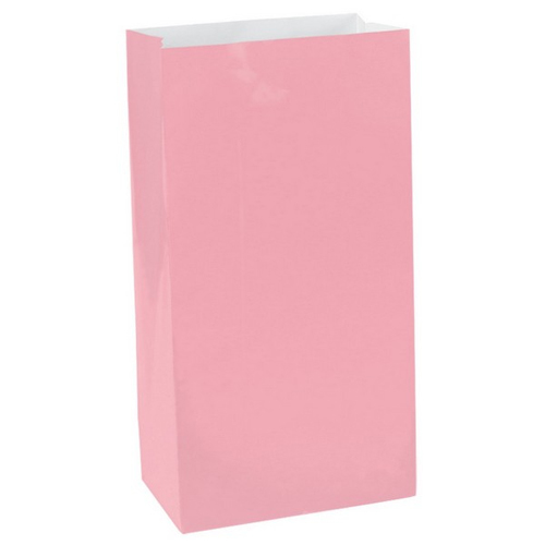 PAPER LOOT BAGS - NEW SOFT PINK - PACK OF 12