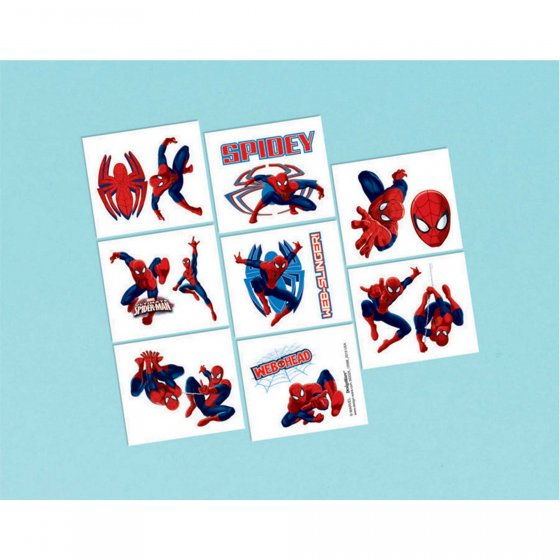 SPIDERMAN TATTOOS - PACK OF 16