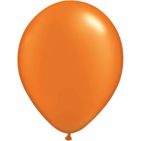 BALLOONS LATEX - ORANGE PEARLISED/METALLIC PROFESSIONAL PACK 25