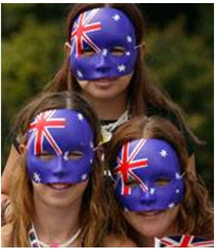AUSTRALIAN FLAG FACE MASK