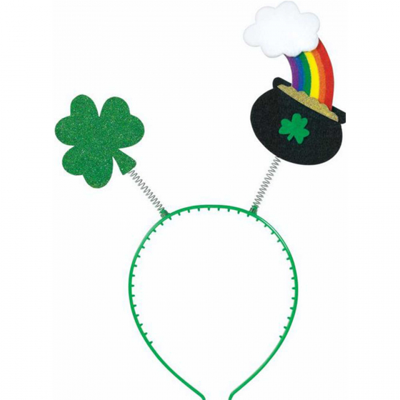 ST PATRICK'S DAY POT O GOLD & SHAMROCK HEAD BOPPER