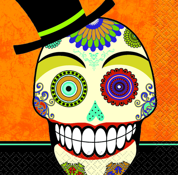 DAY OF THE DEAD COCKTAIL NAPKINS - PACK OF 16
