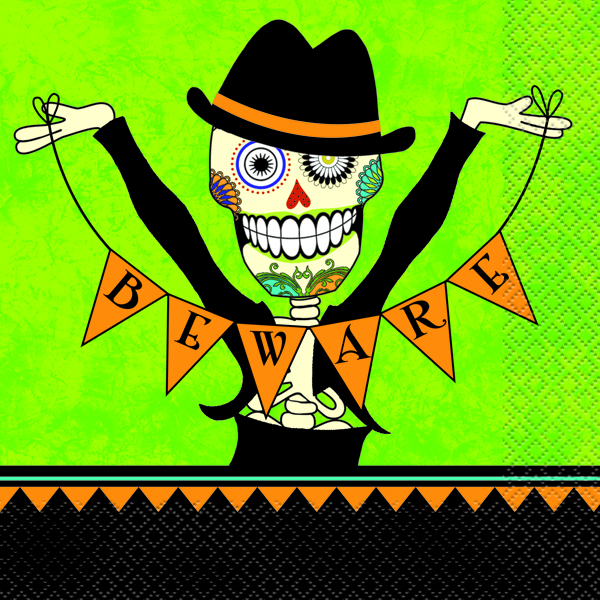DAY OF THE DEAD LUNCH NAPKINS - PACK OF 16