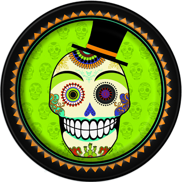 DAY OF THE DEAD LUNCH PLATES - PACK OF 8