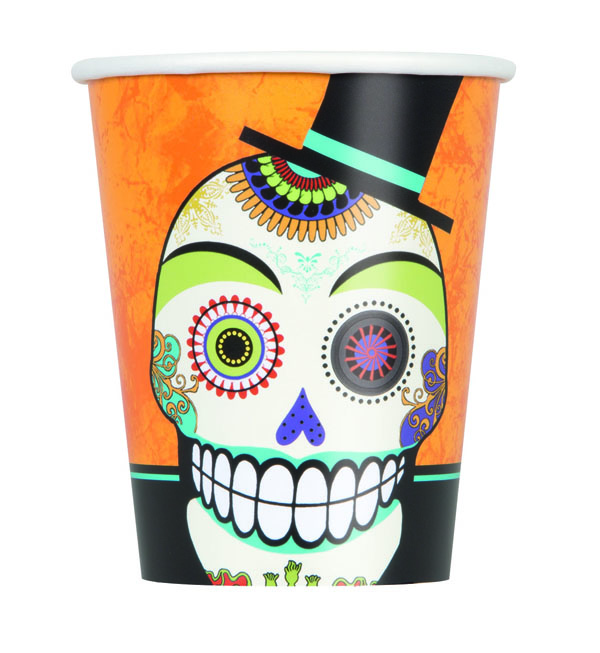 DAY OF THE DEAD CUPS - PACK OF 8