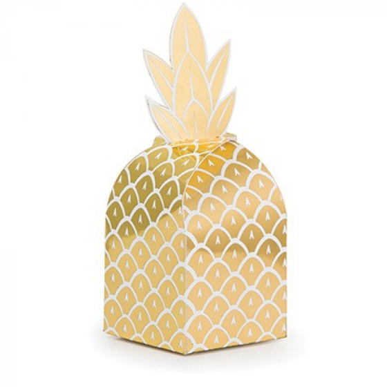 HAWAIIAN GOLDEN PINEAPPLE FAVOUR BOXES - PACK OF 8