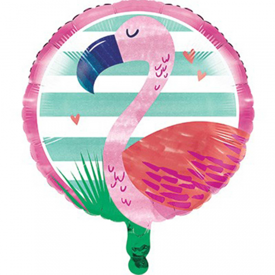 FOIL BALLOON - PINK FLAMINGO & PALM TREES