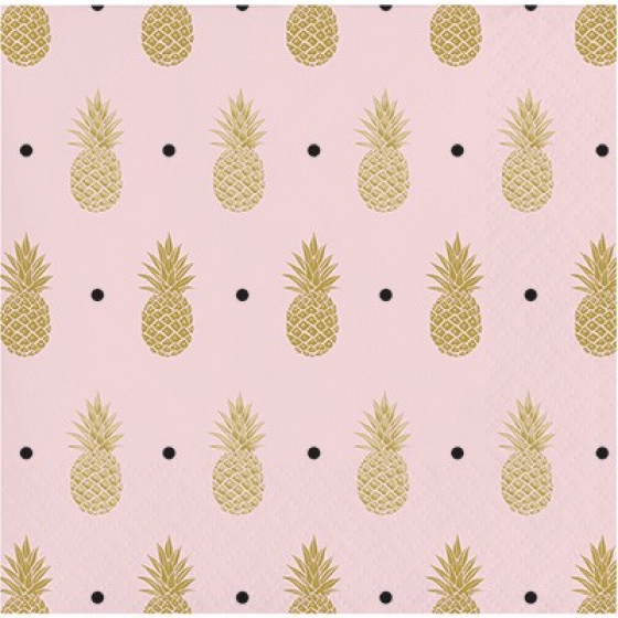 BRIDAL SHOWER PINEAPPLE COCKTAIL NAPKINS - PACK OF 16