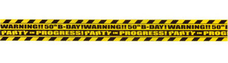 50TH BIRTHDAY PARTY DECORATIVE TAPE- 12.8M