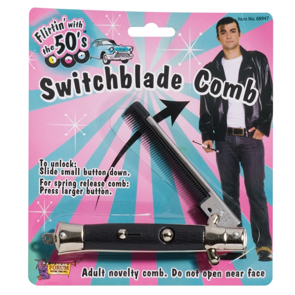 1950'S TEDDY BOY SWITCH BLADE COMB