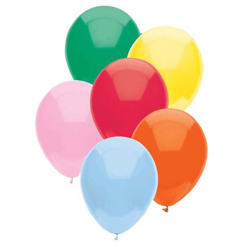 BALLOONS LATEX - FUNSATIONAL STANDARD ASSORTED PACK OF 50