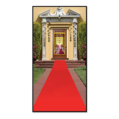 SCENE SETTER RED MOCK CARPET RUNNER