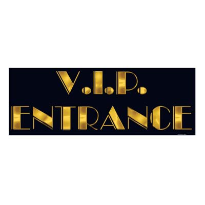 VIP DOOR ENTRANCE SIGN CUT-OUT