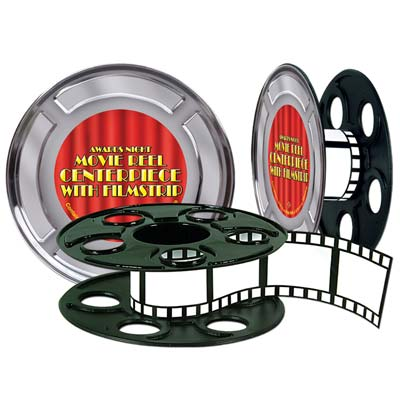 HOLLYWOOD MOVIE REEL WITH FILM STRIP