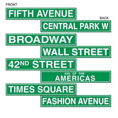 Image of New York/broadway Street Signs
