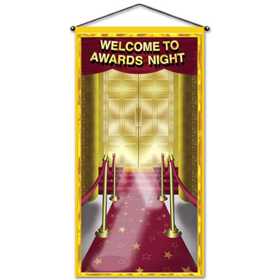 "Image of Awards Night Door/ Wall Panel ""welcome To Awards Night"""