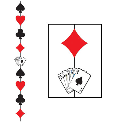 CASINO CARD SUITE STRINGER