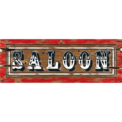 SALOON SIGN CUT OUT