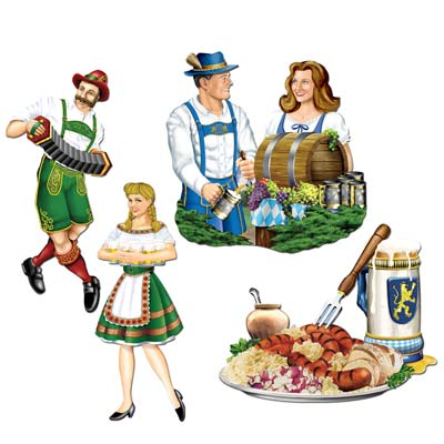 GERMAN OKTOBERFEST CUTOUTS - PACK 4