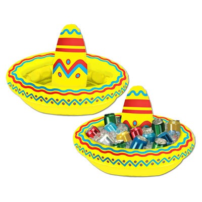 INFLATABLE SOMBRERO TABLETOP DRINK COOLER