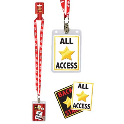 HOLLYWOOD PARTY VIP IDENTITY LANYARD