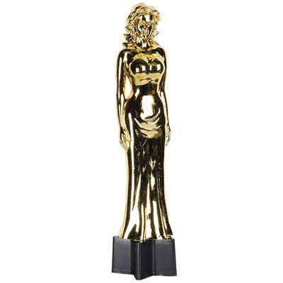 AWARDS STATUETTE - FEMALE IN BALL GOWN