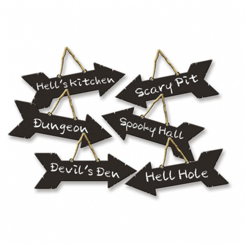 HALLOWEEN DIRECTIONAL SIGNS - PACK 6