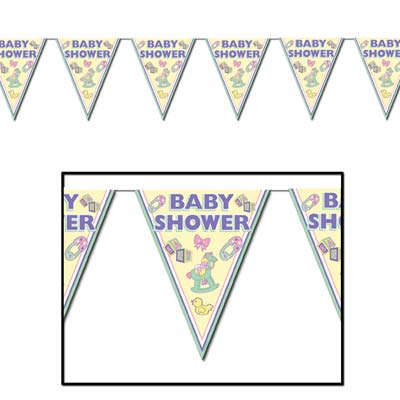 BABY SHOWER PENNANT BANNER 3M