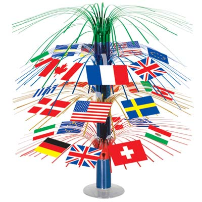 INTERNATIONAL FLAG CENTREPIECE