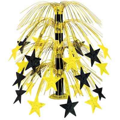 CENTREPIECE - BLACK & GOLD CASCADE STAR TABLE