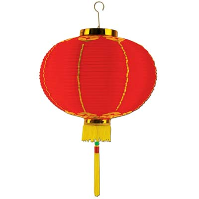 CHINESE PAPER GOOD LUCK LANTERN 41CM