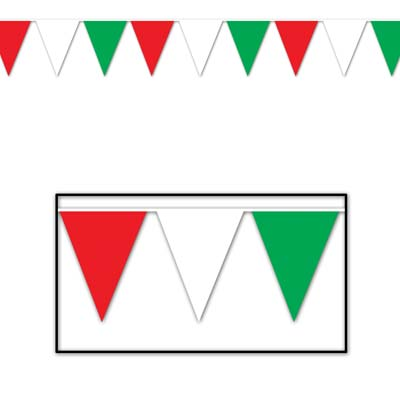 ITALIAN/MEXICAN OUTDOOR PENNANT BANNER - SMALL