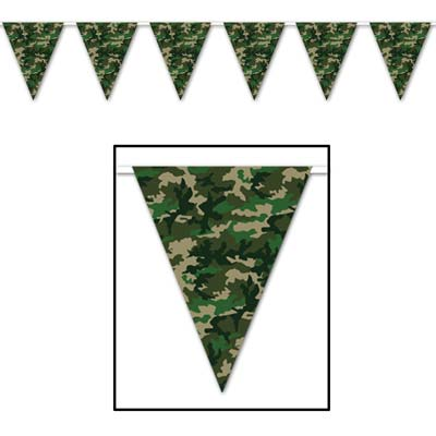 CAMOUFLAGE PENNANT BANNER 3.6M