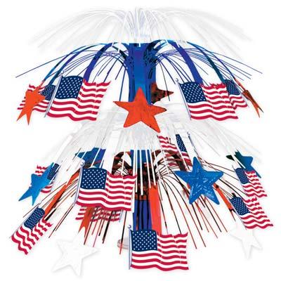 Image of American Flag Cascade Centrepiece