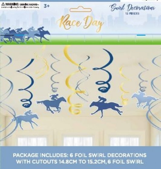 MELBOURNE CUP RACE DAY SWIRLS - PACK OF 12