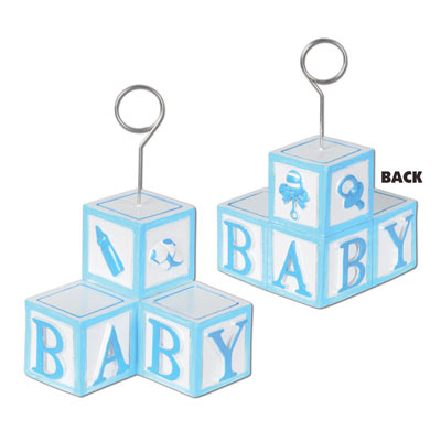 BALLOON WEIGHT - BOY BLUE BABY BLOCKS