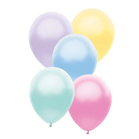 BALLOONS LATEX - FUNSATIONAL PEARL PASTEL ASSORTMENT PACK OF 25