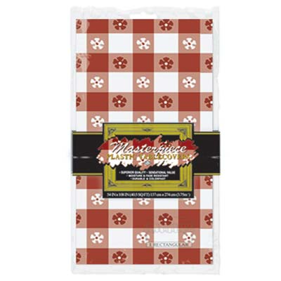 TABLECOVER - RED CHECK GINGHAM