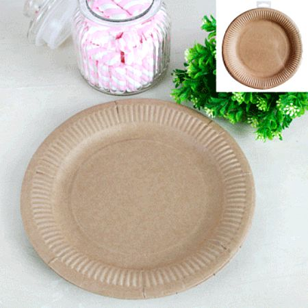 NATURAL ECO PAPER DINNER PLATES - BULK PACK 50