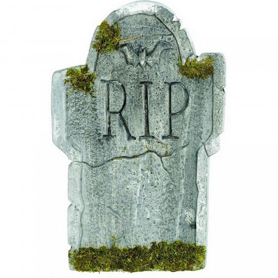 HALLOWEEN TOMBSTONE - MOSSY RIP