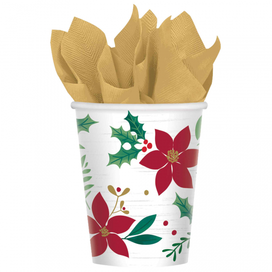 CHRISTMAS WISHES CUPS - PACK OF 8