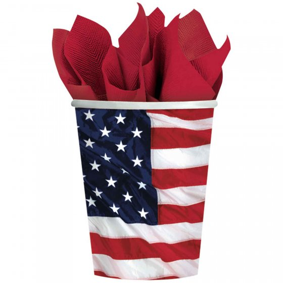 AMERICAN PARTY CUPS - PACK OF 8