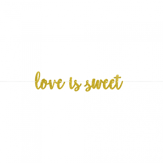 LOVE IS SWEET VALENTINES DAY FOIL LETTER BANNER