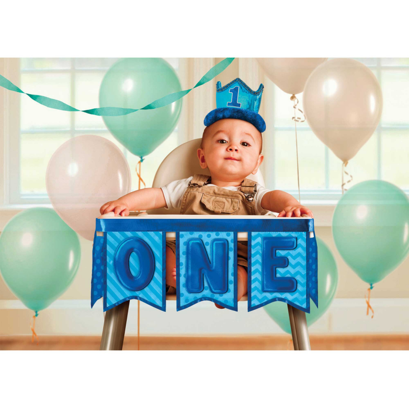 BIRTHDAY BOY DESIGN 1ST BIRTHDAY HIGH CHAIR DECORATION KIT