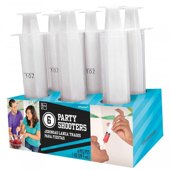 SYRINGE SHOT PARTY SHOOTERS - PACK OF 6