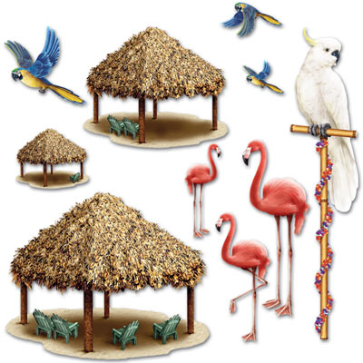 INSTA THEME - TIKI HUTS & TROPICAL BIRD PROPS