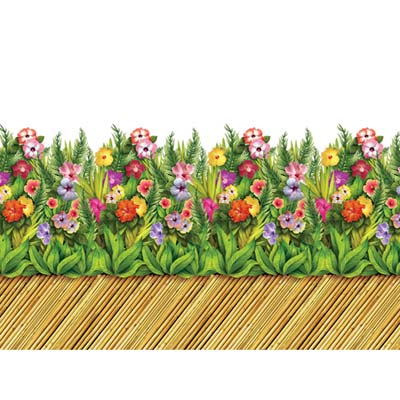 INSTA THEME - TROPICAL FLOWER & BAMBOO WALKWAY BORDER