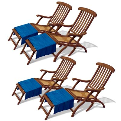 INSTA THEME - CRUISE SHIP DECK CHAIRS