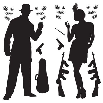 INSTA THEME - GANGSTER PROPS DECORATIONS - PACK OF 24