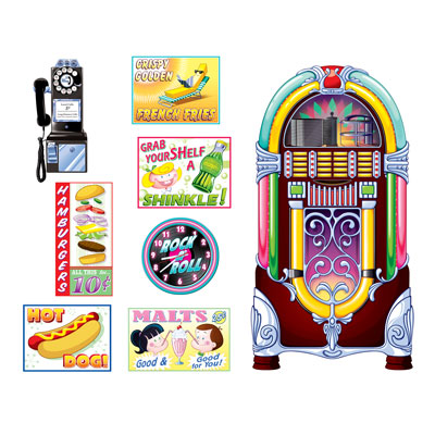 INSTA THEME - SODA SHOP SIGNS & JUKE BOX PROPS